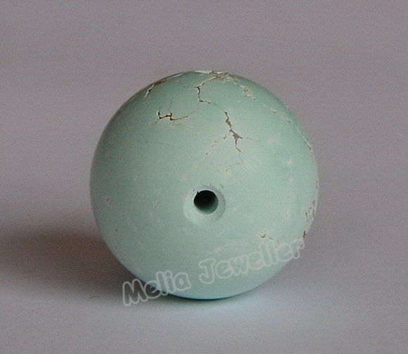 Natural Turquoise Dia.17 mm Round Loose Bead