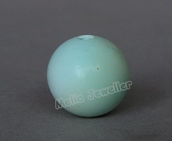 Natural Turquoise Dia.15 mm Round Loose Bead