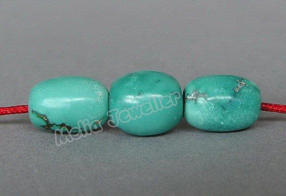 Natural Turquoise Dia.8-9 mm Barrel Loose Bead
