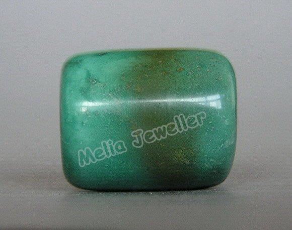 Natural Turquoise Dia.16 mm Barrel Loose Bead
