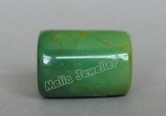 Natural Turquoise Dia.16 mm Barrel Loose Bead
