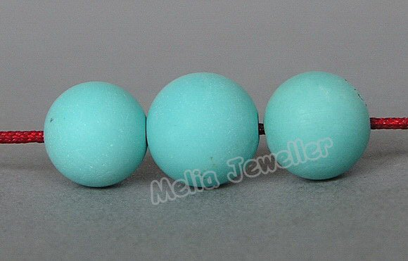 Natural Turquoise Dia.9.5-10 mm Round Loose 3 Beads