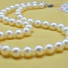 8.5-9mm White Round Natural Seawater Pearl Necklace