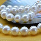10-11mm White Round Natural Seawater Pearl Necklace