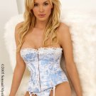 2 piece princess brocade metal boning corset.80057