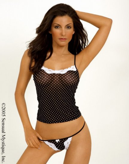 Stretch spandex mesh camisole.80015