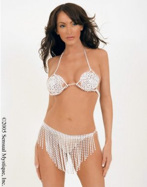 Faux rhinestone full coverage bra.80075
