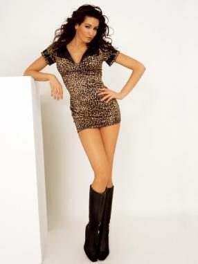 Leopard print dress.80078