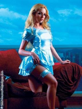French maid ruffle dress and garter.80108