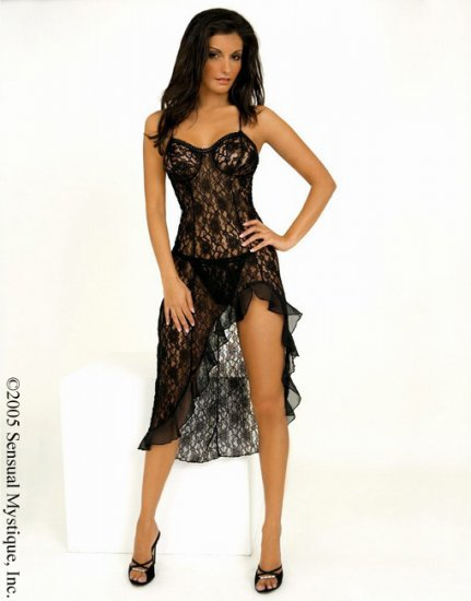 Beautiful stretch lace long gown.80065