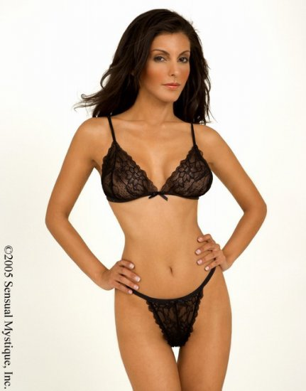 2 piece floral lace bra top with matching thong.80010