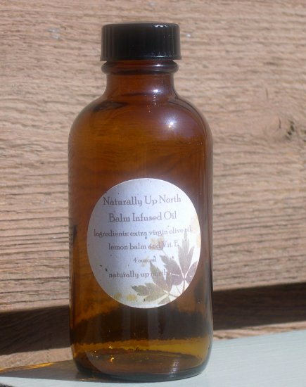 Lemon Balm Herbal Infused Oil 4 ounces