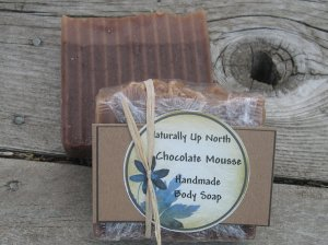 Chocolate Mousse Handmade Cold Process Vegy SOAP Delicious Yummy Delectable