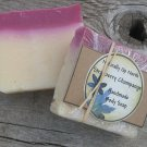 Strawberry Champagne Handmade Cold Process Vegy Soap Berries Floral Fruit Sweet