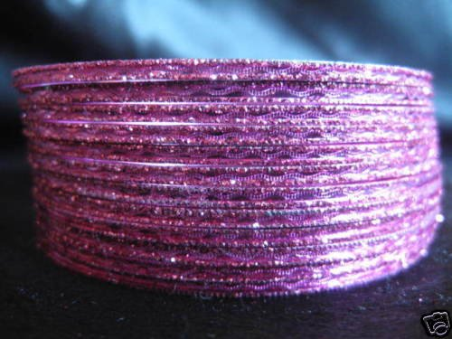 Metallic Pink Indian  Bangles Ethnic Bracelets size 2.8