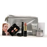 Lancome SILVER Cosmetic Bag 7 PC Set:LIPSTICK ,RENERGIE