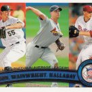 Josh Johnson, Adam Wainwright, Roy Halladay - 2011 Topps #82