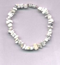 Genuine White Howlite Chip Bracelet