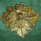Green Man Barrette - Gold