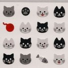 MIND WAVE Animal Face Mini Stickers : Kittens / Cats