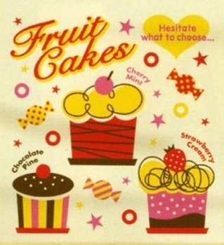INCENTIVE Shopping Tote Bag Fruit Cakes Japanese