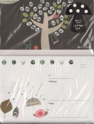 YOGETSU Petit Jam Snail with Umbrella Letter Set