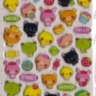 CRUX Colorful Days Animal Epoxy Sticker Set Kawaii