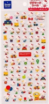 SANRIO Hello Kitty & Mimmy Sticker Set Amusement Park