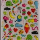 CRUX Imomushi Coron Cute Caterpillar Sticker Set Kawaii