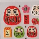 MIND WAVE Daruma / Dharma Dolls Stickers Good Luck!