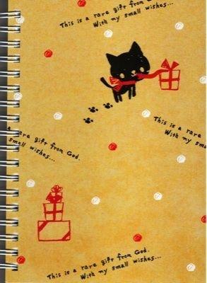 KAMIO Animal Footprint Kitten B6 Spiral Notebook Kawaii