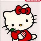 SANRIO Hello Kitty with Apple Vinyl Auto Decal