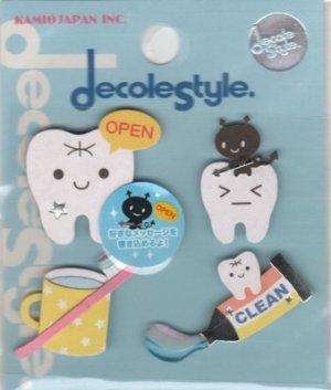 KAMIO Decole Style Scrapbooking Sticker: Teeth
