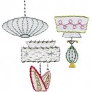 Sublime Stitching Embroidery Pattern: Vintage Lamps