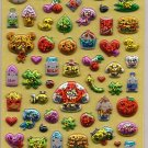 Q-LIA Springtime Sparkly Sweet Puffy Sticker Set