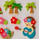 PULSE Hawaii Sticker Set Hula Girls with Ukuleles