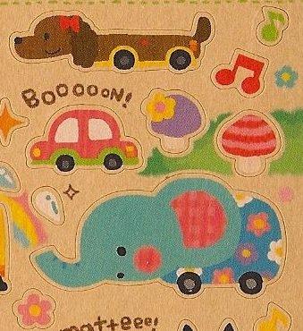 Q-LIA Animal Cars Sticker Set