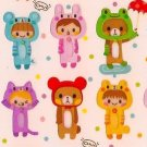 Q-LIA Animal Costumes Sticker Set