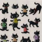 ARK ROAD Black Cat in Shirts Sticker Set