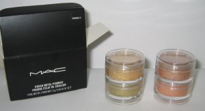 MAC - Stacked 2! 1/4 tsp Pigment Sample Set w/Original Jars