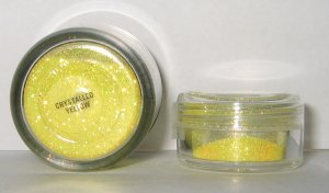 MAC - Crystalled Yellow 1/4 tsp Glitter Brilliant Sample