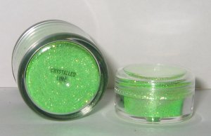 MAC - Crystalled Lime 1/4 tsp Glitter Brilliant Sample