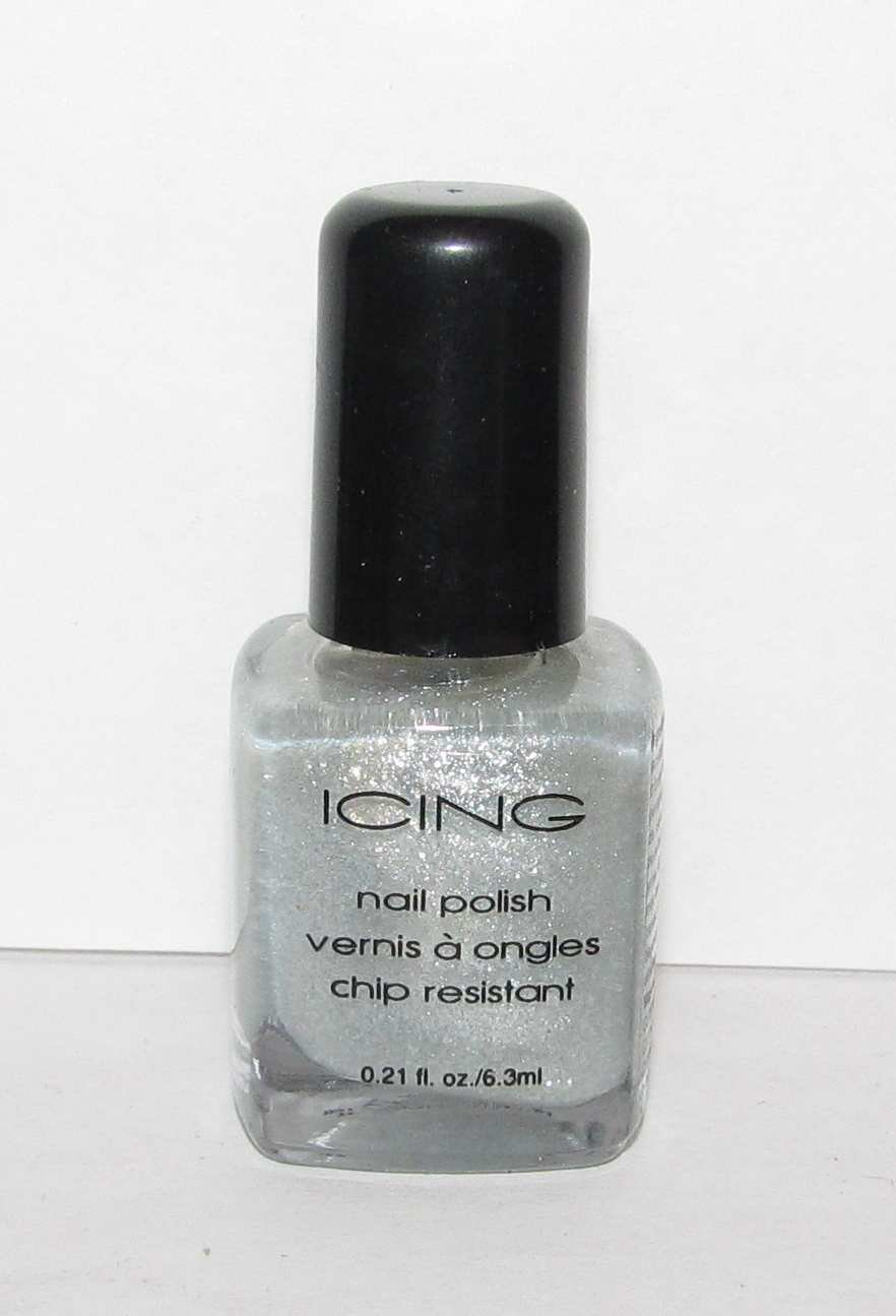 Icing Nail Polish - NEW - Silver Clear Glitter color!