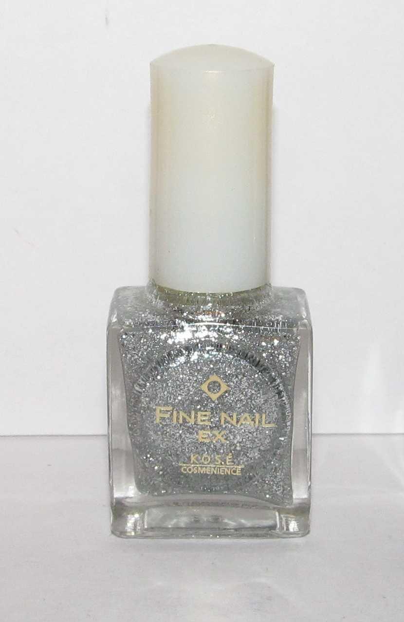 Kose Nail Polish - Fine Nail EX - Silver Glitter
