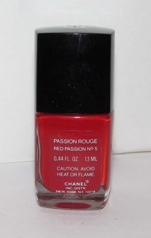 CHANEL Nail Polish - Passion Rouge (Red Passion No5) - VHTF - RARE