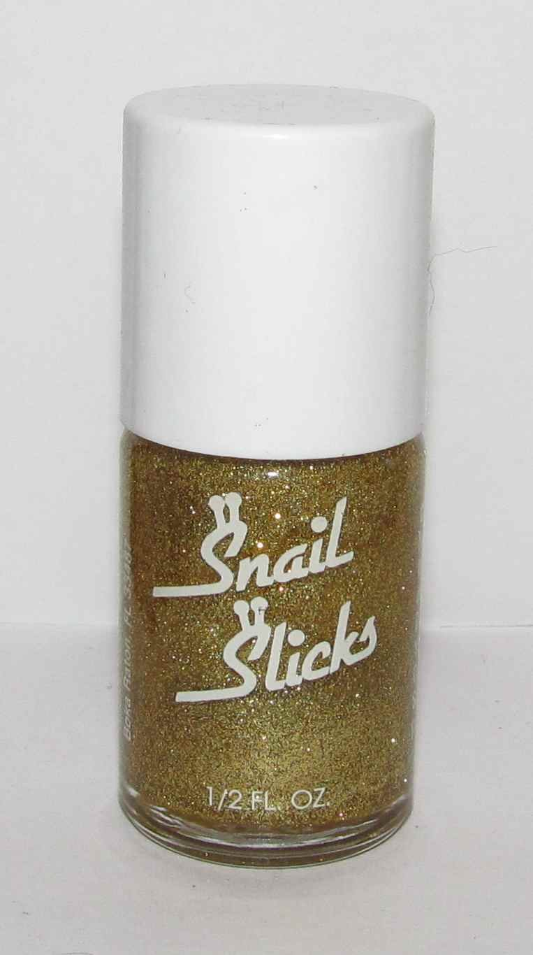 Snail Slicks Nail Polish #6 - Gold Glitter - NEW