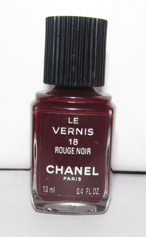chanel rouge noir nail polish nwob. Black Bedroom Furniture Sets. Home Design Ideas
