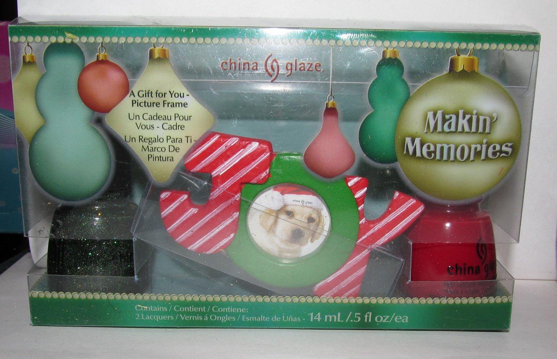 China Glaze Nail Polish - Makin' Memories - Winter Holly & Red Satin NEW