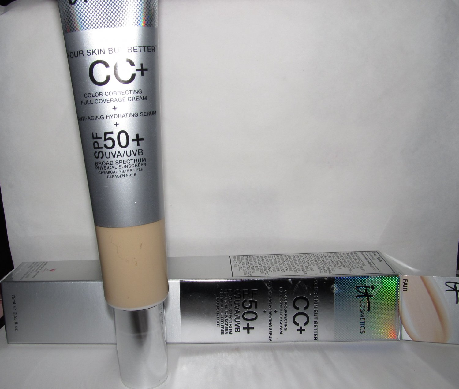 It Cosmetics - CC+ Cream with SPF 50+ in FAIR - NIB