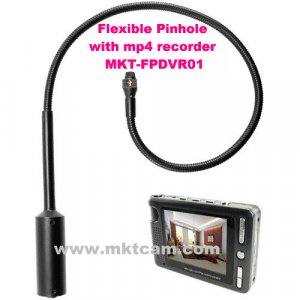Flexible Pinhole Camera with MP4 Recorder MKT-FPDVR01 from mktcam